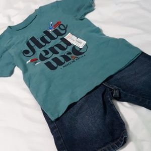 Oshkosh shorts and Jumping Bean Shirt 3T